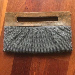 BCBGMaxAzria Leather and Metal Clutch